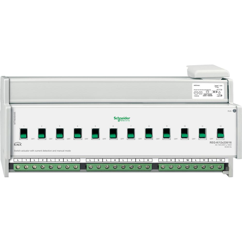 SCHNEIDER ELECTRIC KNX SCHAK. ACTOR 12 UITG. 16A STROOMDET - MTN648495