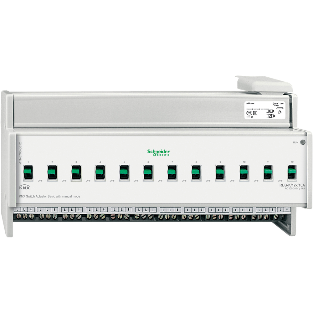 KNX ACTOR 12 UITGANGEN 16A MAN.BED.BASIC