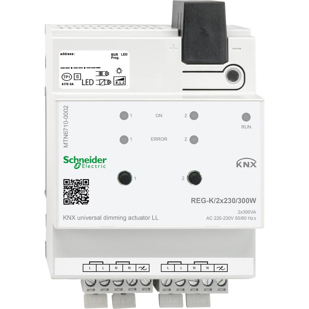 Schneider Electric KNX universele dimactor regk/2x300w - MTN6710-0002