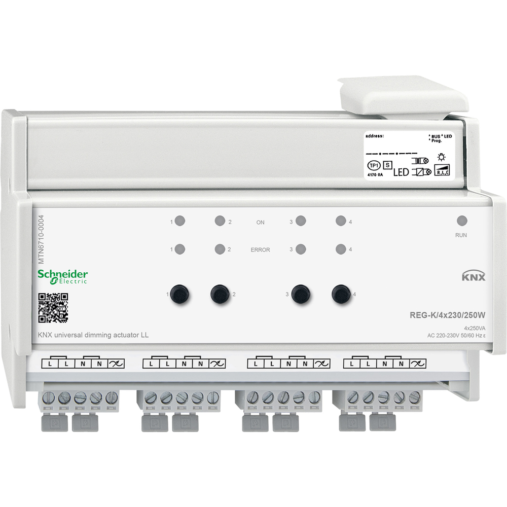 Schneider Electric KNX universele dimactor regk/4x250w - MTN6710-0004