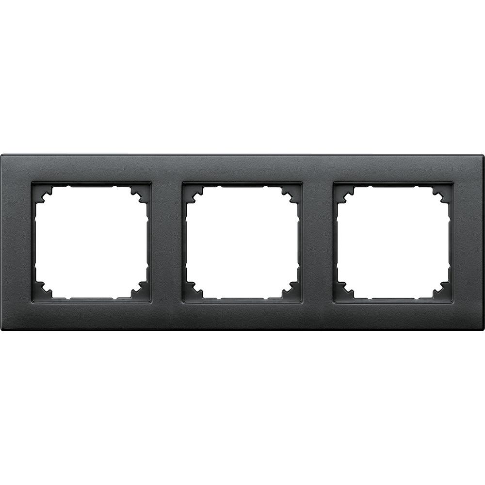 AFDEKRAAM 3V M-SMART KUNSTSTOF ANTRACIET