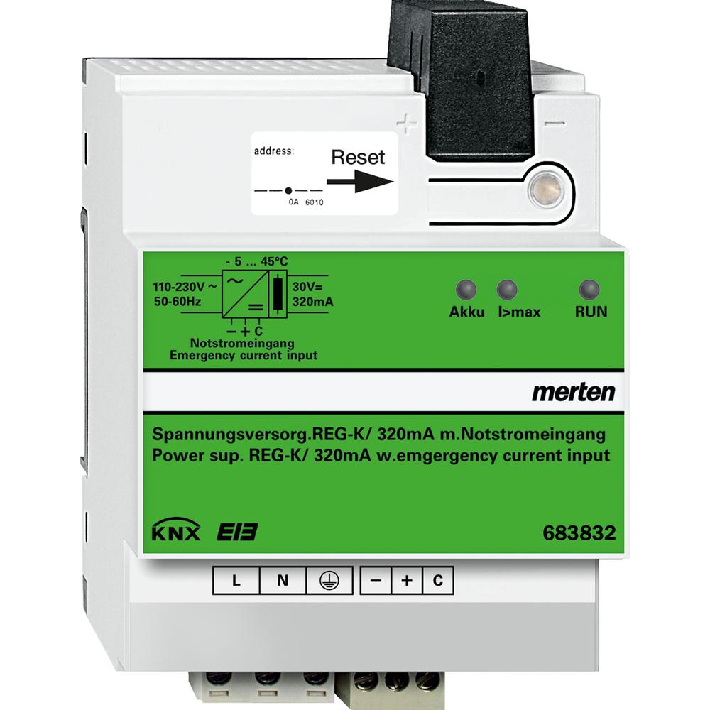KNX POW.SUP.REG-K/320MA+EMG.CURR.INP.LGR
