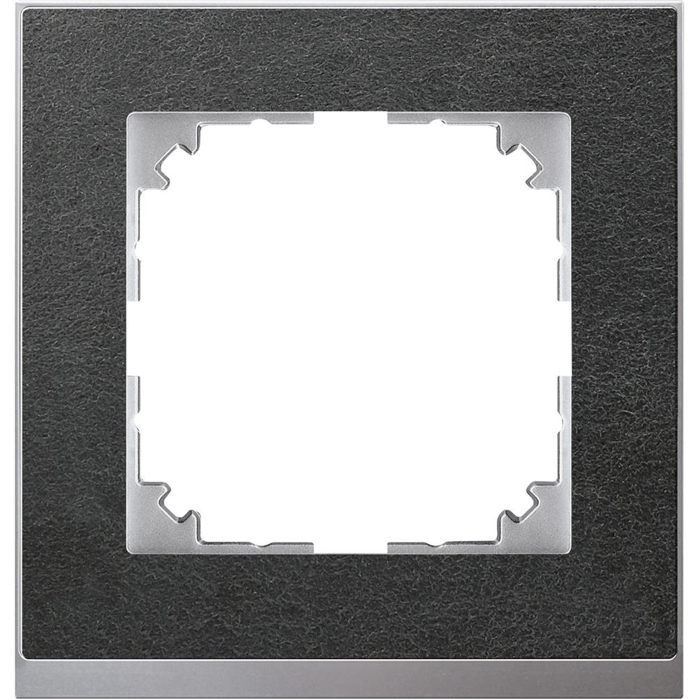 AFDEKRAAM 1V M-PURE DECOR STEEN/ALU