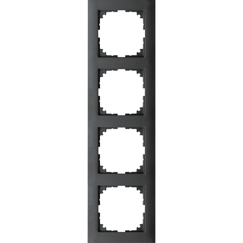 AFDEKRAAM 4V M-PURE KUNSTSTOF ANTRACIET