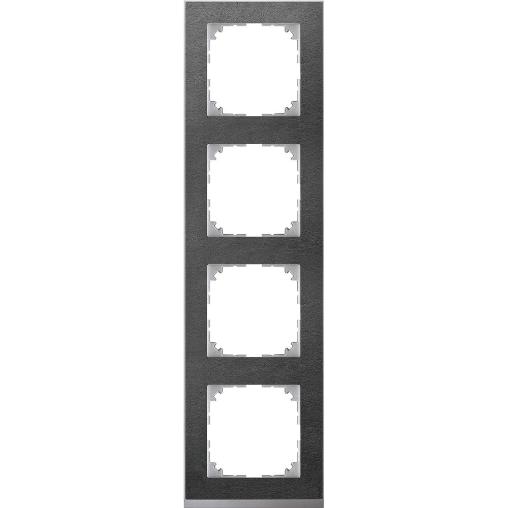 AFDEKRAAM 4V M-PURE DECOR STEEN/ALU