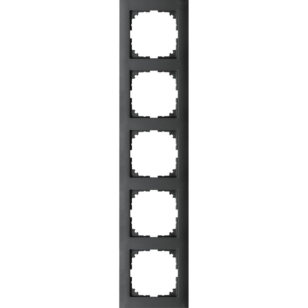 AFDEKRAAM 5V M-PURE KUNSTSTOF ANTRACIET