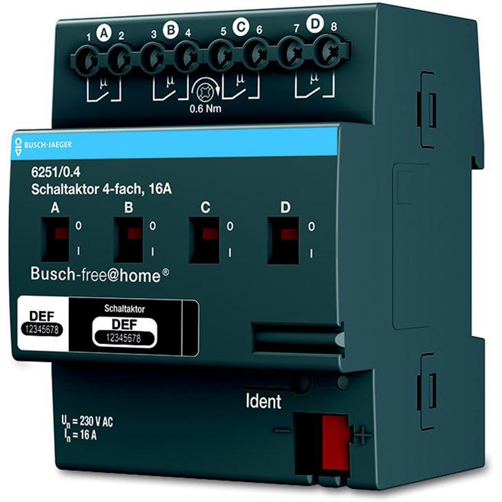6251/0.4 BUS FAH AKTOR 4X16A DIN-RAIL