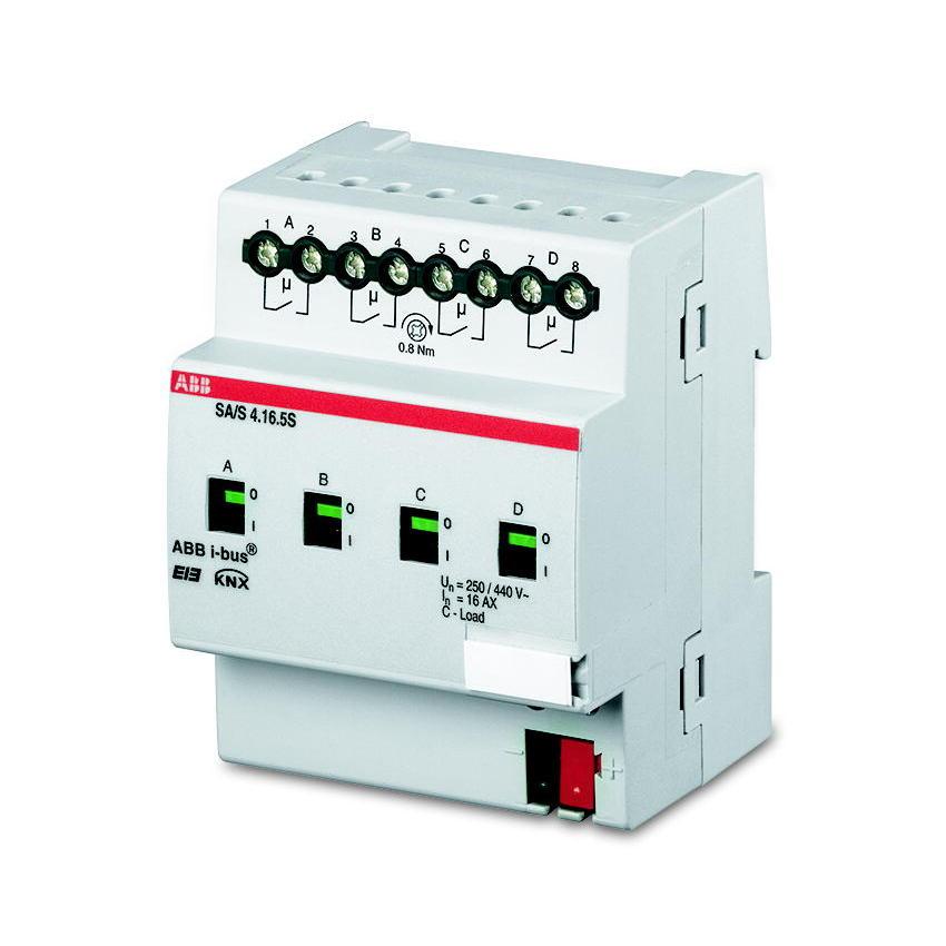 SA/S 4.16.6.1 BUS KNX UITGANG 4X16AX-AC3 DIN-R I