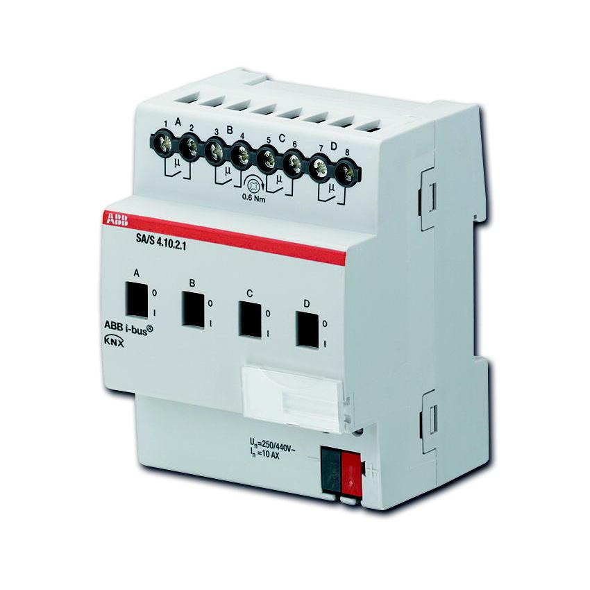 SA/S 4.10.2.1 BUS KNX UITG.4X 10AX-AC1 DIN-R