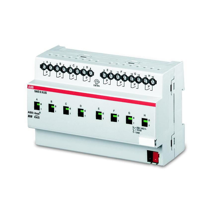 SA/S 8.16.6.1 BUS KNX UITG.8X16AX-AC3 DIN-R