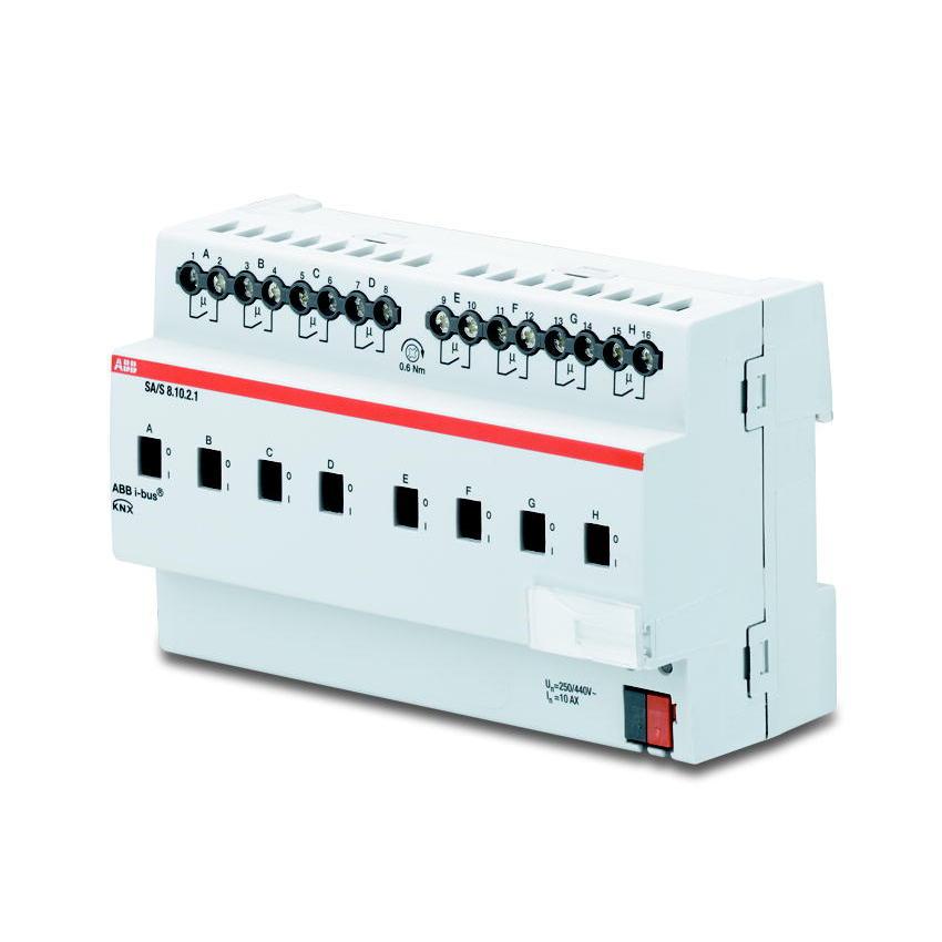 SA/S 8.10.2.1 BUS KNX UITG.8X 10AX-AC1 DIN-R