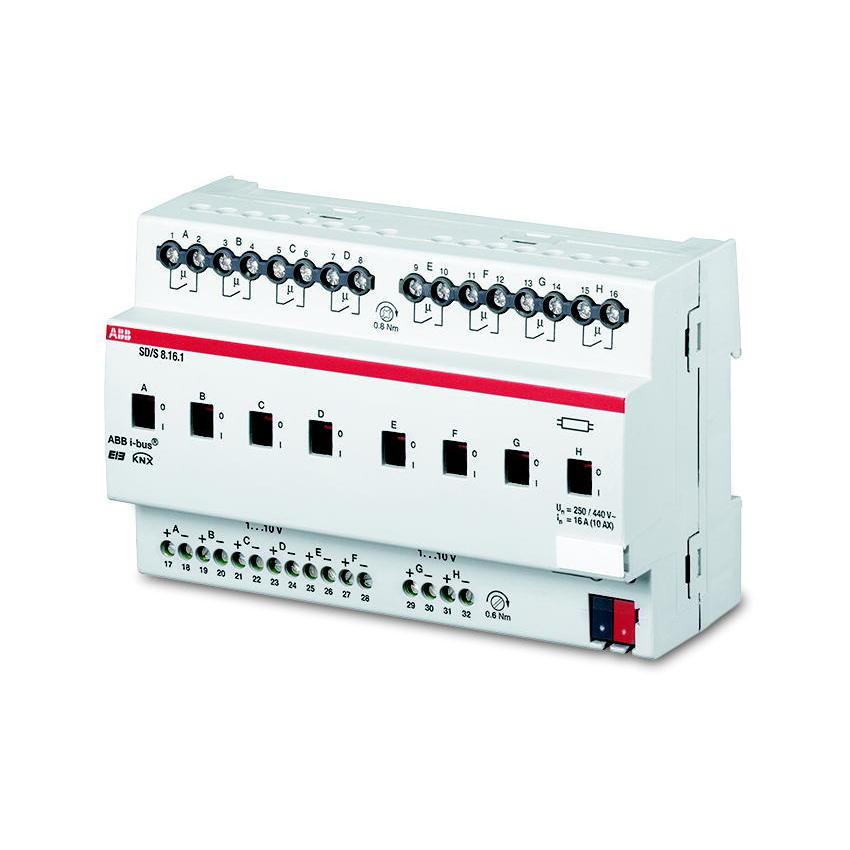 SD/S 8.16.1 BUS EIB SCHAK/DIM-AKT 0-10V 8V
