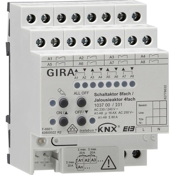 GIRA ACTOR S/J8/4V 16A DRA KNX