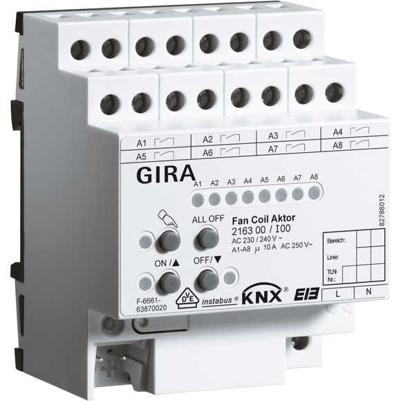 GIRA ACTOR FAN-COIL    DRA KNX