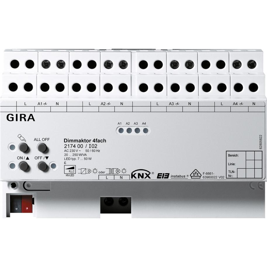 GIRA DIMAKTOR 250W 4V DRA  KNX