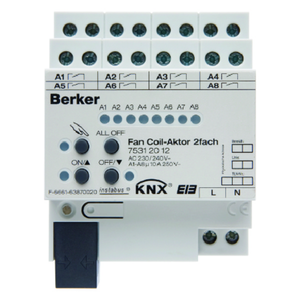 BERK FAN COIL-ACTOR 2V 10A KNX