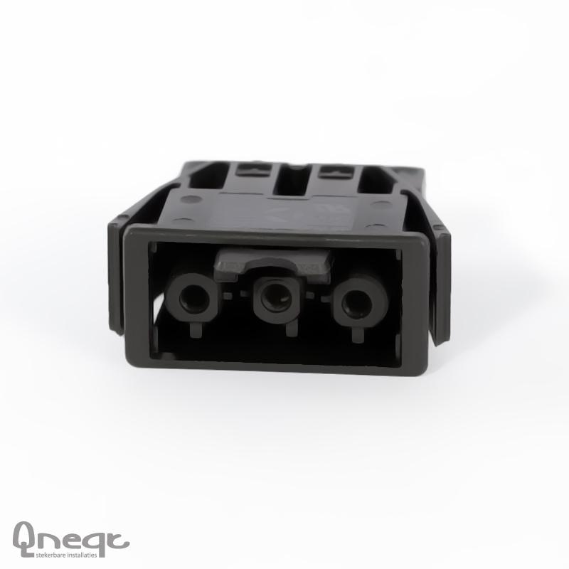 Qneqt chassisdeel 3-polig female zwart voor kunststof