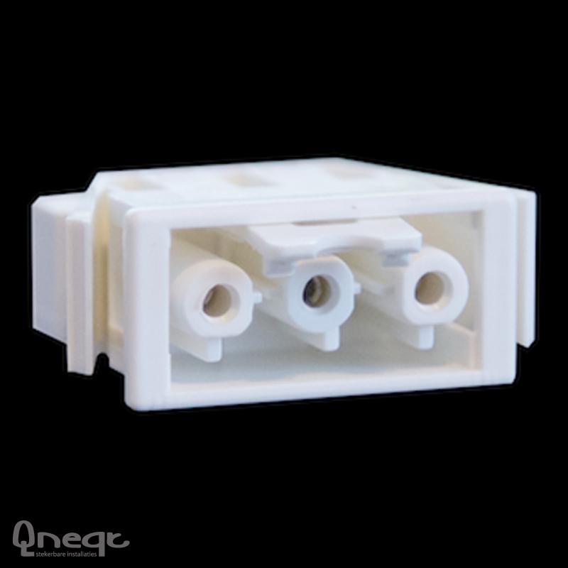 Qneqt chassisdeel 3-polig female wit met vergr.