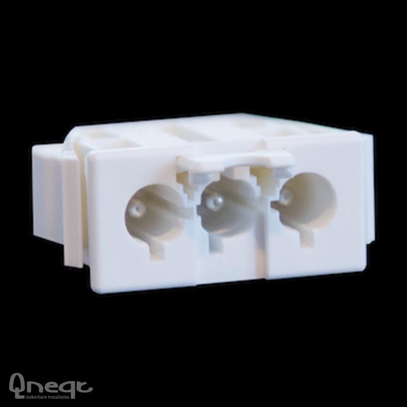 Qneqt chassisdeel 3-polig male wit met vergr.