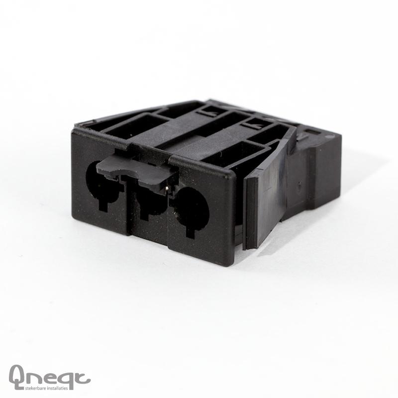 Qneqt chassisdeel 3-polig male zwart voor kunststof