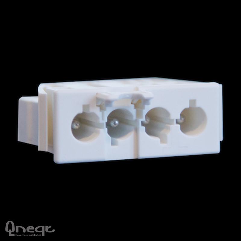 Qneqt chassisdeel 4-polig male wit met vergr.