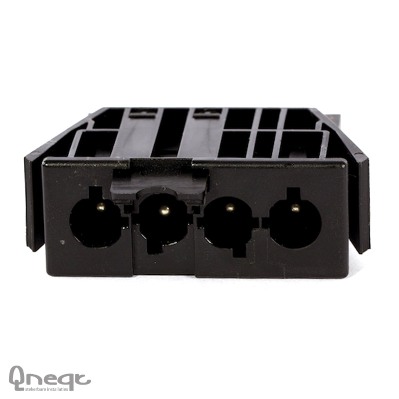 Qneqt chassisdeel 4-polig male zwart met vergr.