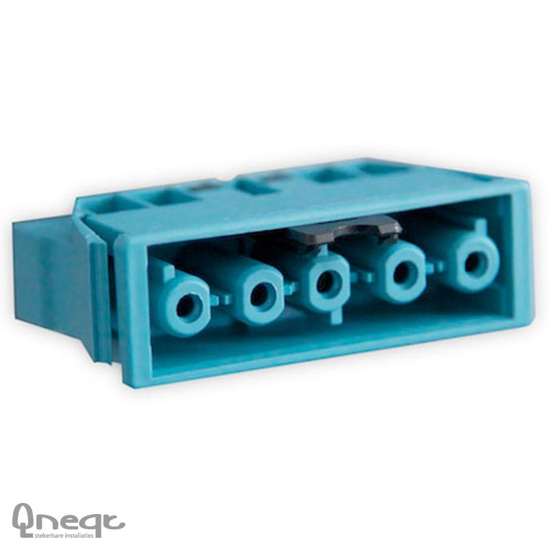 Qneqt chassisdeel 5-polig female pastelblauw met vergr.