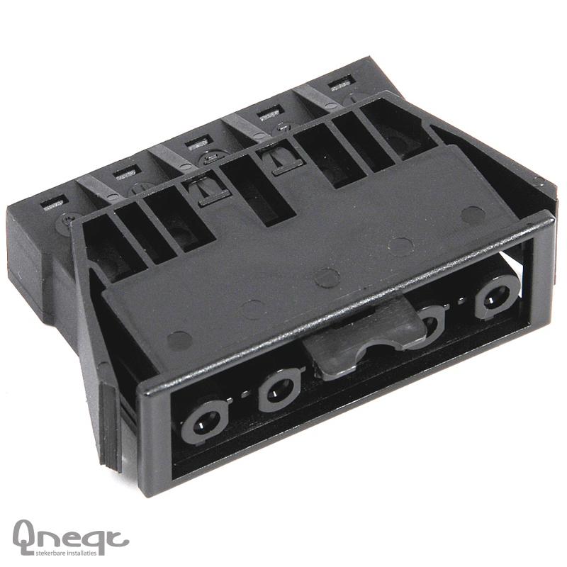 Qneqt chassisdeel 5-polig female zwart met vergr.