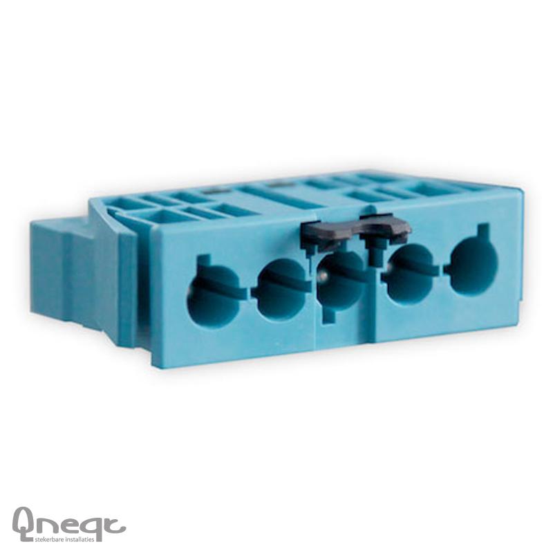 Qneqt chassisdeel 5-polig male pastelblauw met vergr.