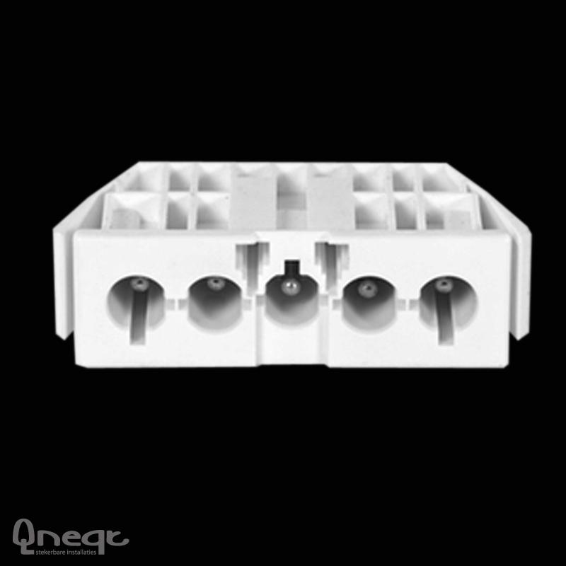 Qneqt chassisdeel 5-polig male wit zonder vergr.