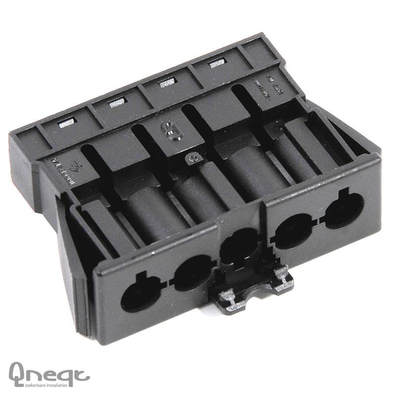 Qneqt chassisdeel 5-polig male zwart zonder vergr.