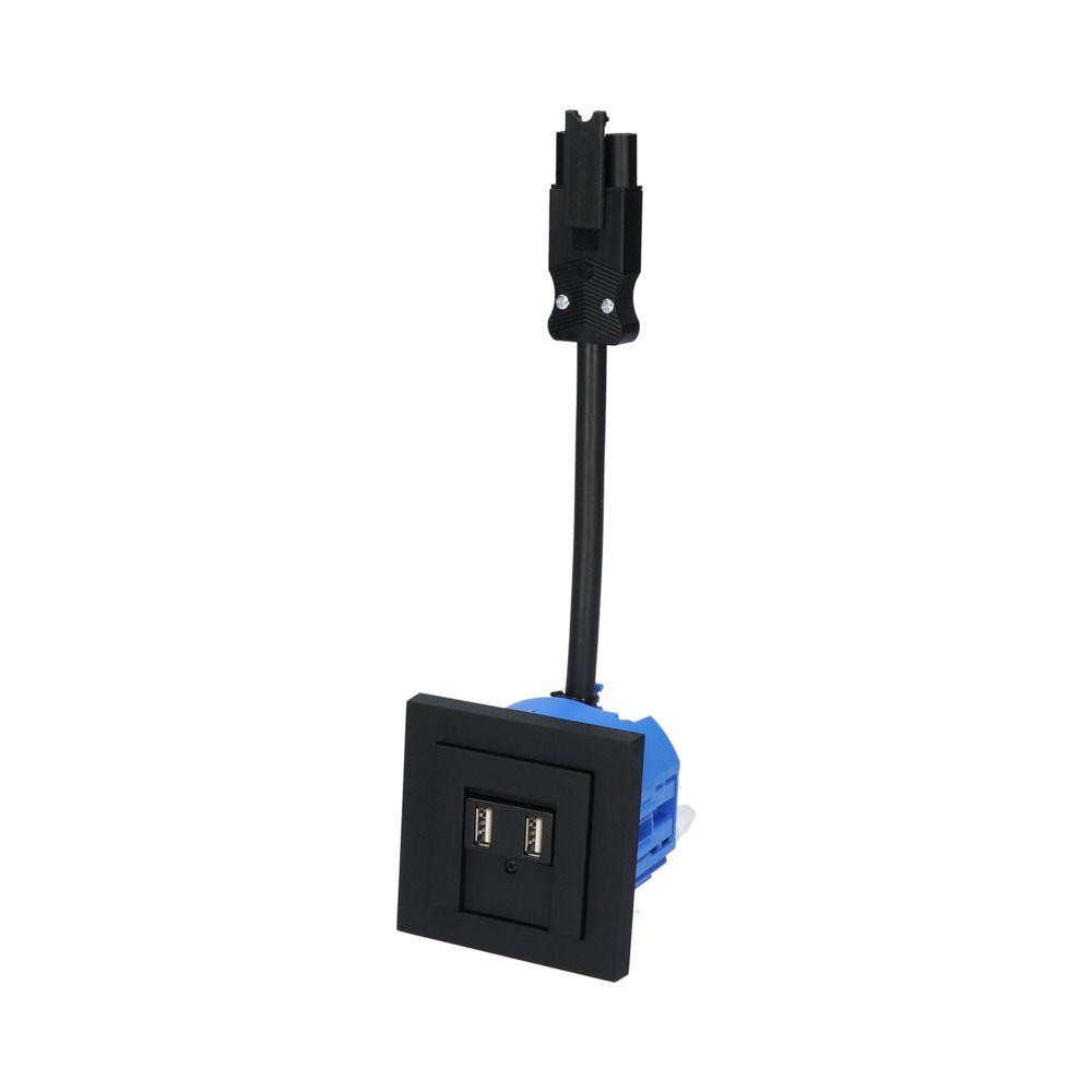 GIRA E2 Zwart Mat – 2 USB WCD