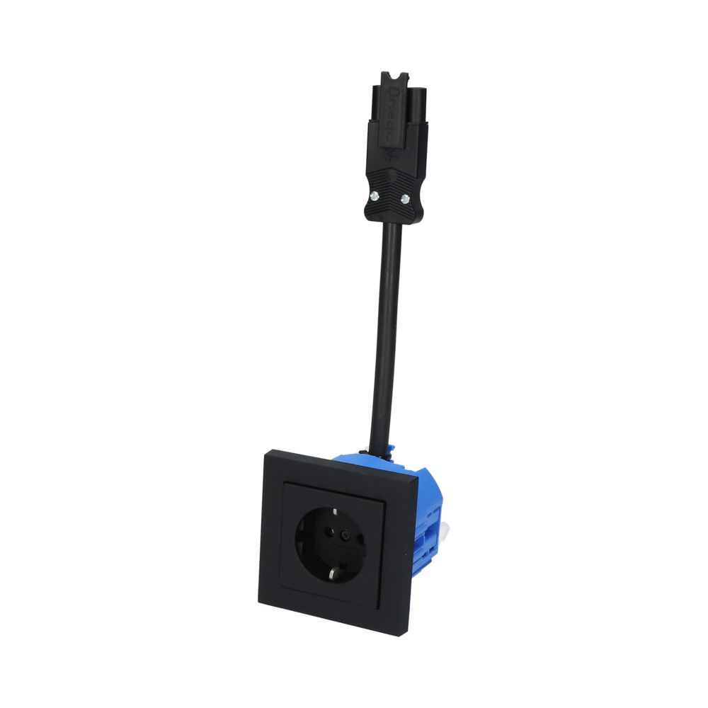 GIRA E2 Zwart Mat – 1V WCD