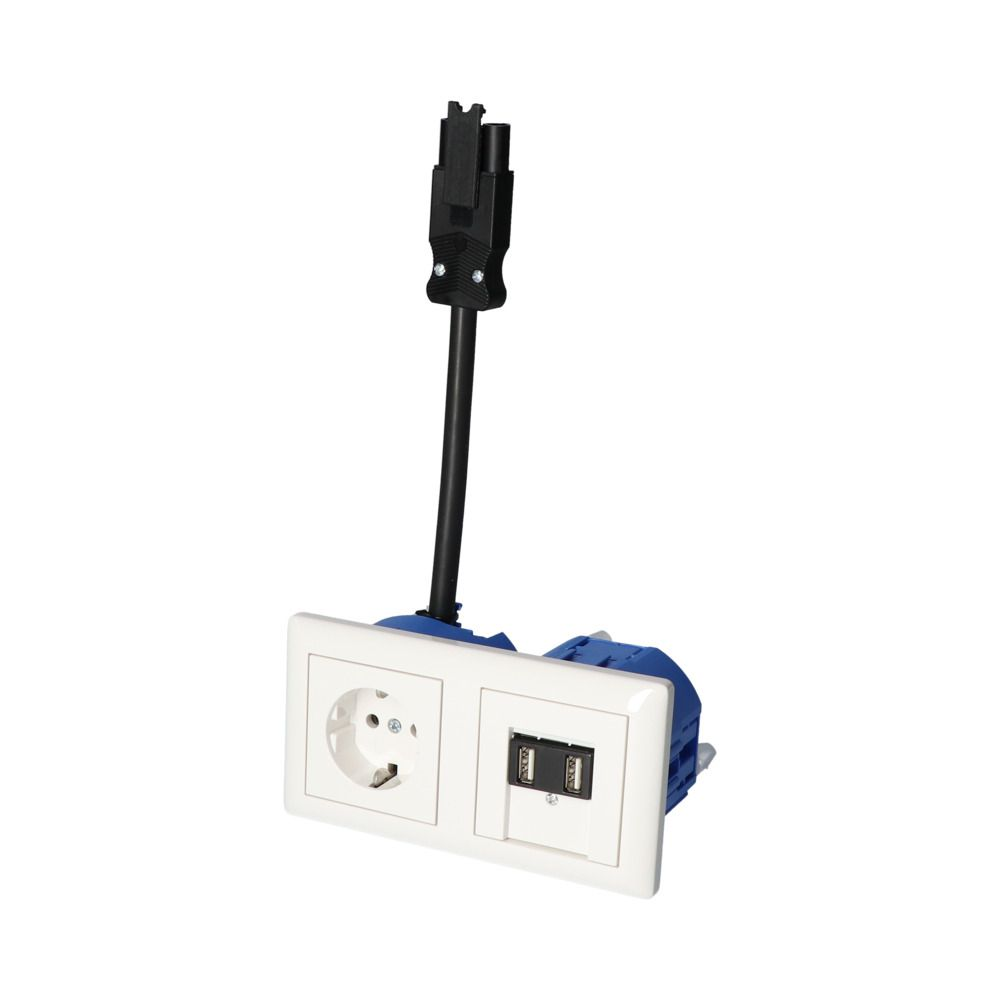 GIRA Standaard 55 Wit Glanzend – 1V WCD 2V USB