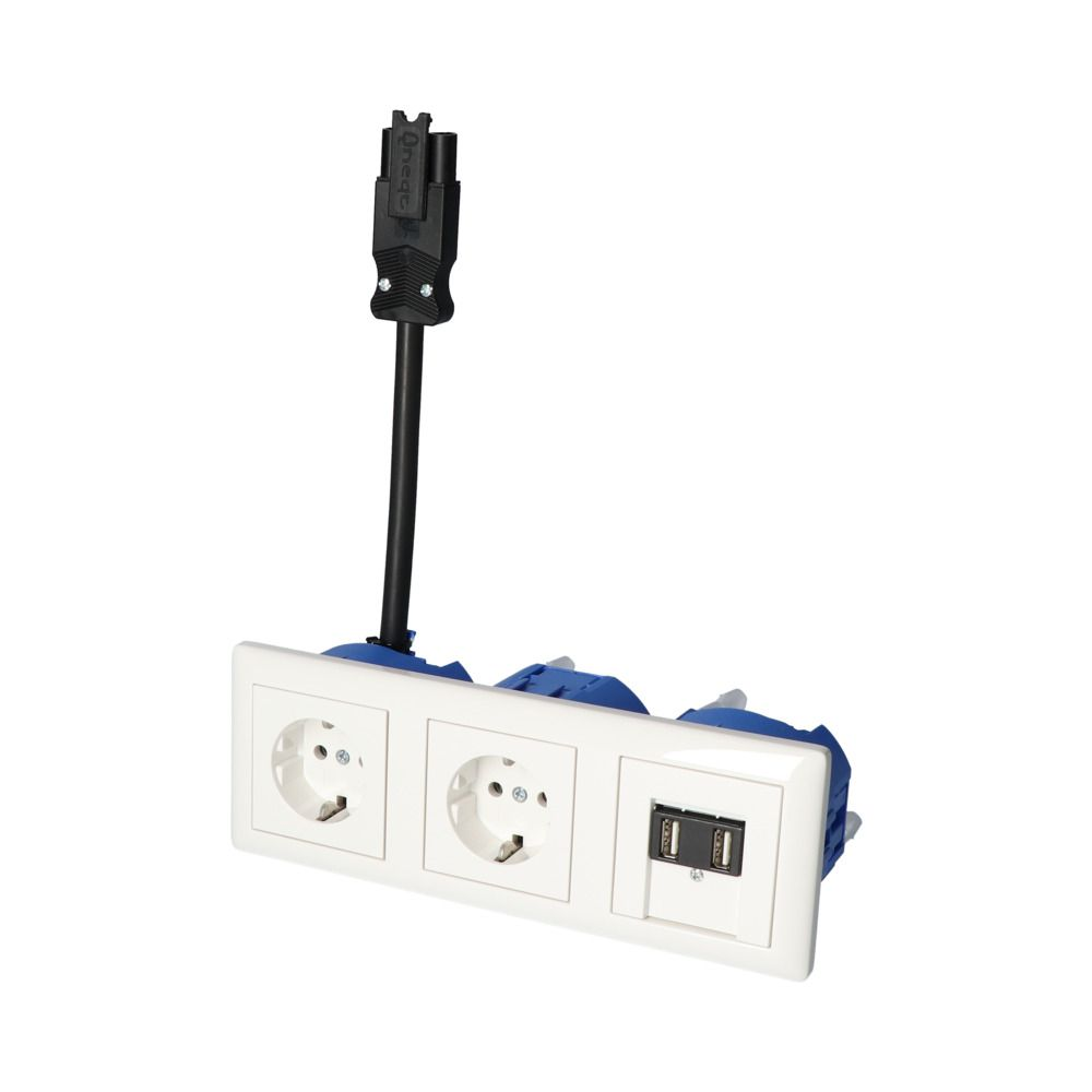 GIRA Standaard 55 Wit Glanzend – 2V WCD 2V USB