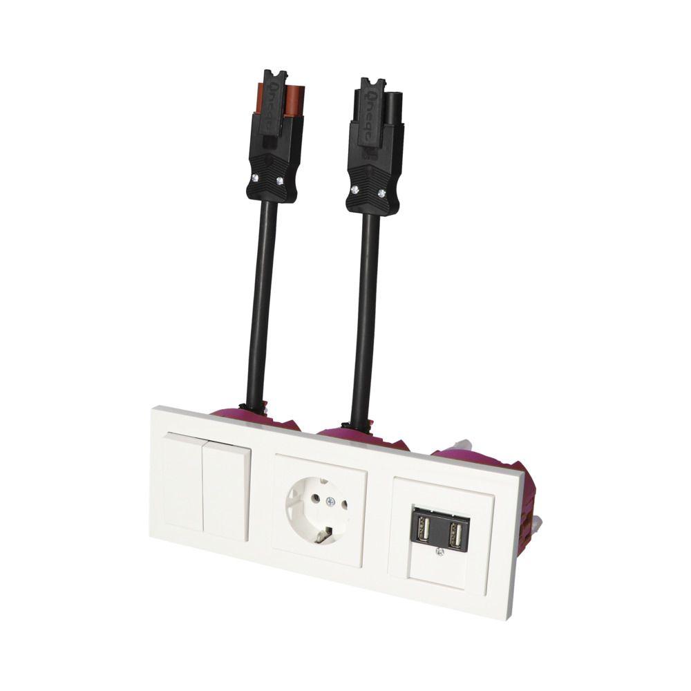 GIRA E2 Wit Glanzend – WSS 1V WCD 2V USB KV BW