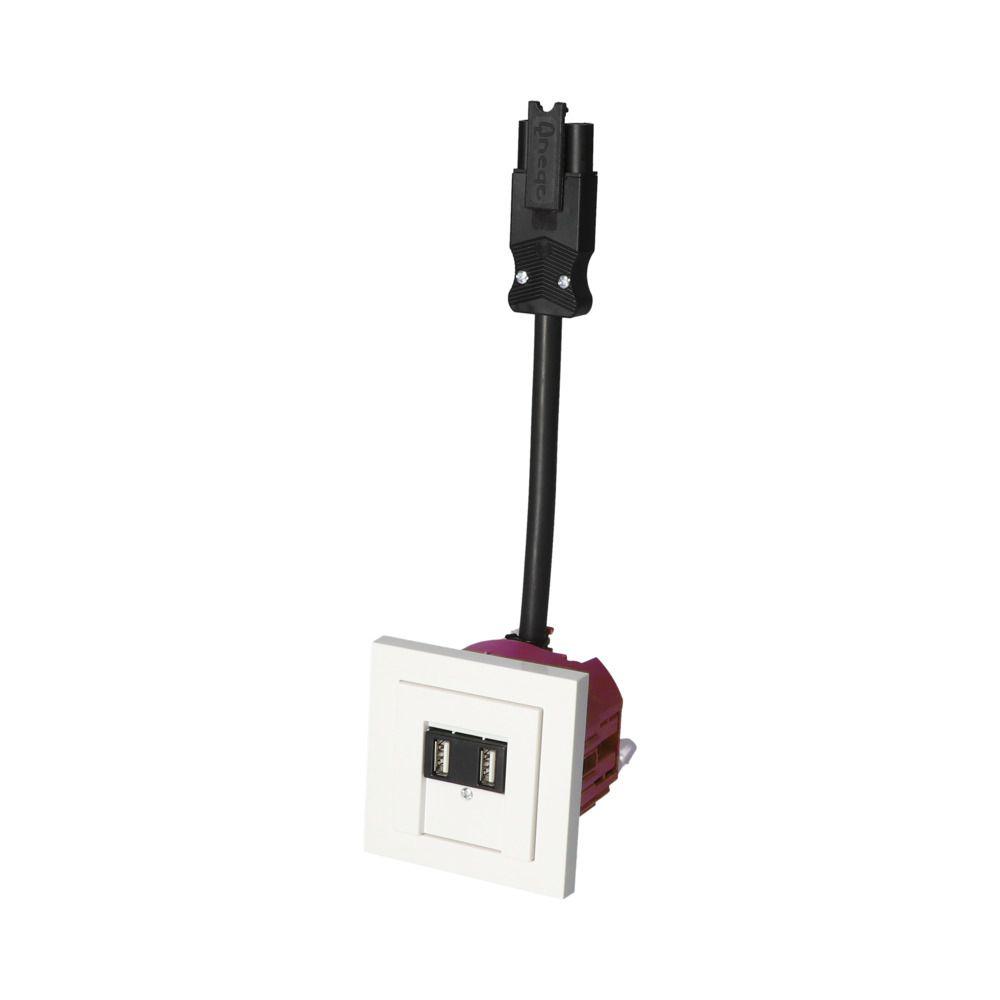 GIRA E2 Wit Glanzend – 2 USB WCD BW