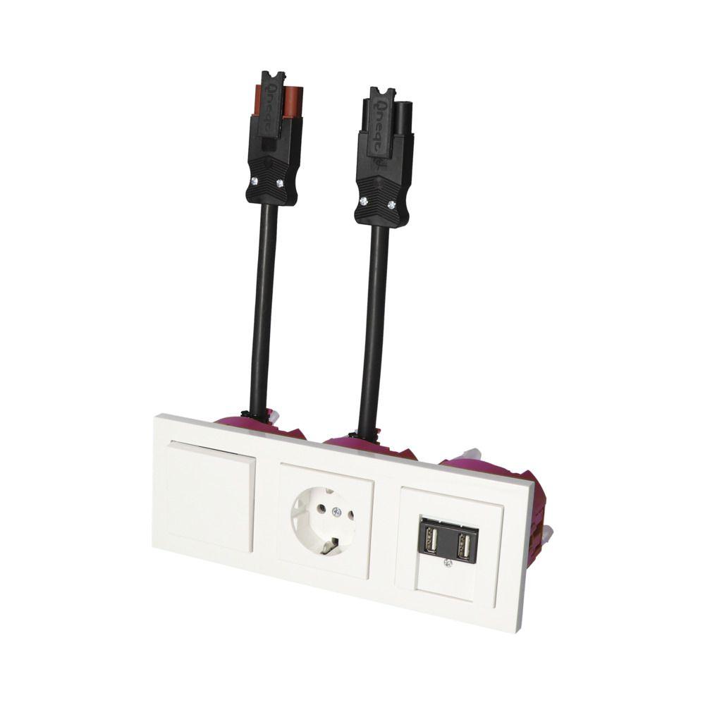 GIRA E2 Wit Glanzend – WSS-WSS 1V WCD 2V USB KV