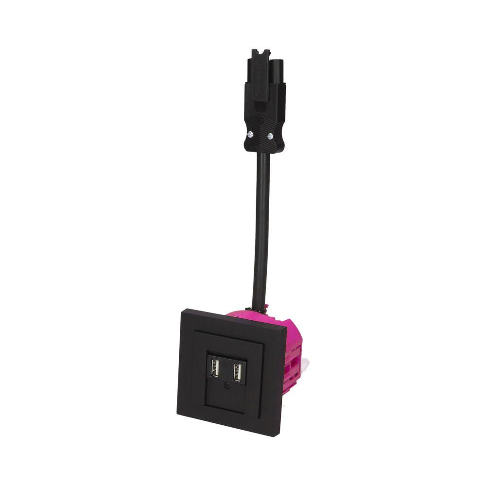 GIRA E2 Zwart Mat – 2 USB WCD BW