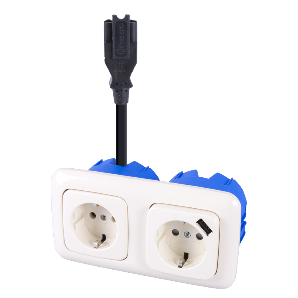BJ Standaard SI Stekerbare WCD 2V + USB