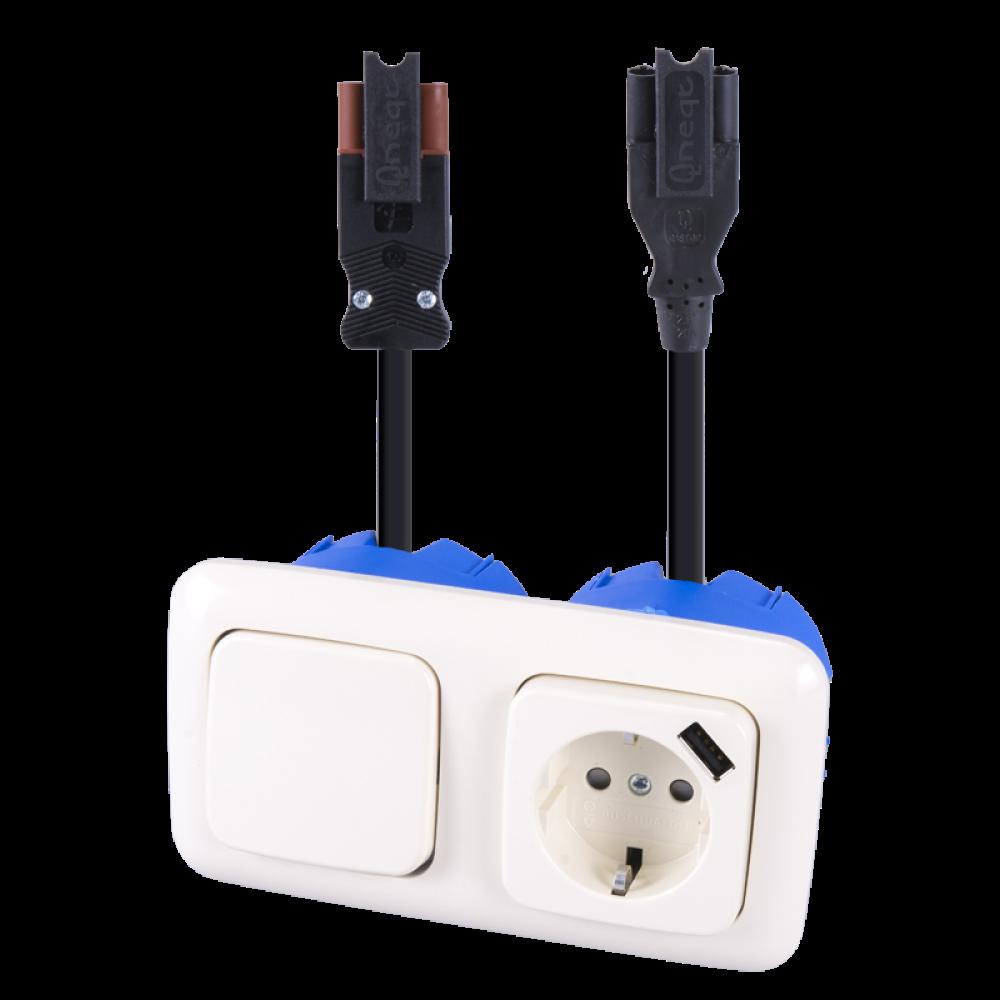 BJ Standaard SI Stekerbare WSS + WCD met USB