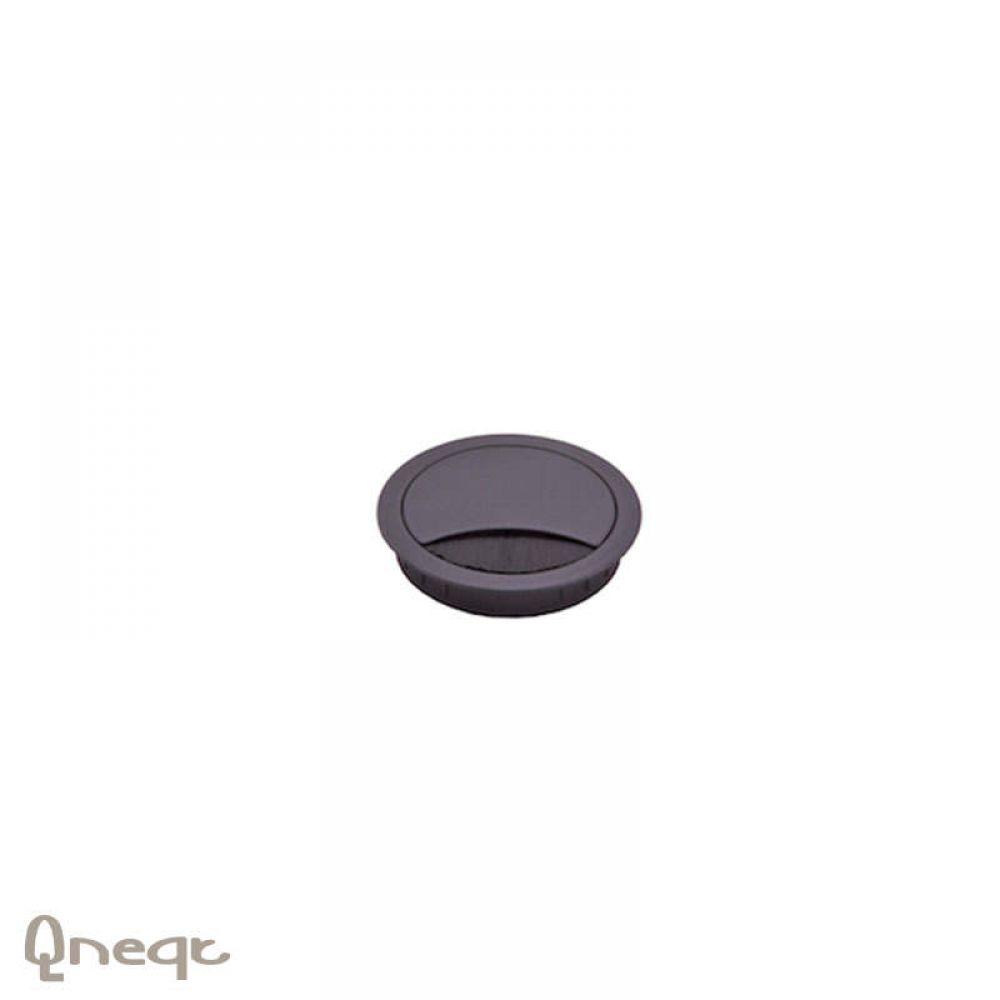 Doorvoer rond zamak Ø 60mm 12mm hoog chroom mat
