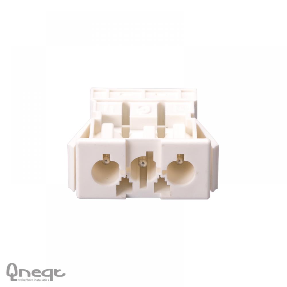 Qneqt chassisdeel 3-polig male wit zonder vergr.