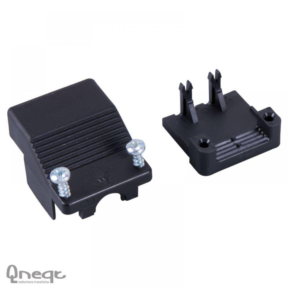 Qneqt trekontlasting 3-polig hoog ronde kabelinvoer zwart