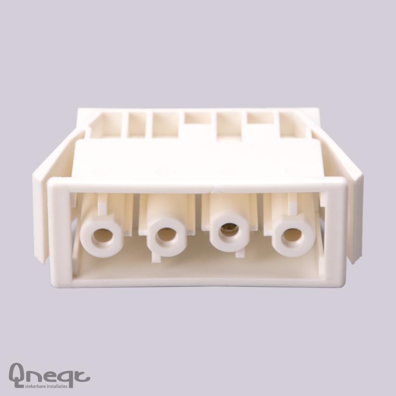 Qneqt chassisdeel 4-polig female wit zonder vergr.