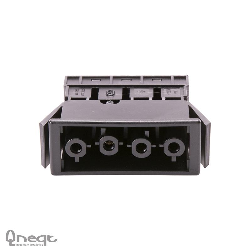 Qneqt chassisdeel 4-polig female zwart zonder vergr.