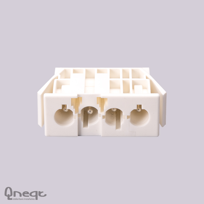 Qneqt chassisdeel 4-polig male wit zonder vergr.