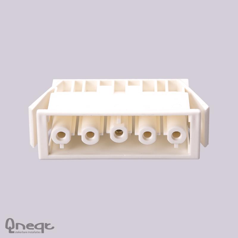 Qneqt chassisdeel 5-polig female wit zonder vergr.