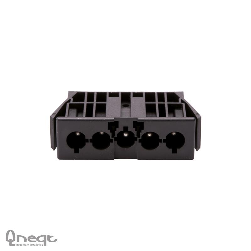 Qneqt chassisdeel 5-polig male zwart met vergr.