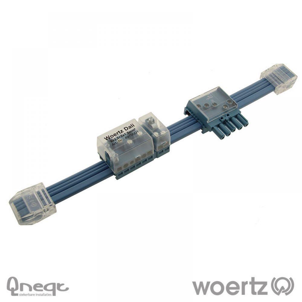 Woertz Dali vlakbandkabel 3G2.5 + 2x1.5 mm2 FRNC B2ca